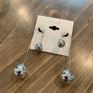 Aqua (Bloomingdale's) Silver Earrings